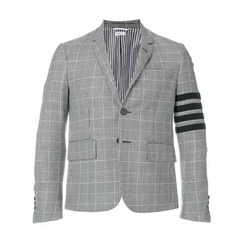Blazer en laine à carreaux gris Thom Browne