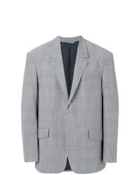 Blazer en laine à carreaux gris Tonello Cs