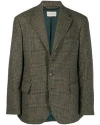 Blazer en laine à carreaux vert foncé Holland & Holland