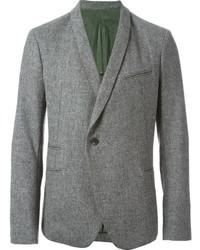 Blazer en laine à chevrons gris Haider Ackermann