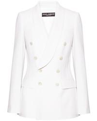 Blazer en laine blanc Dolce & Gabbana