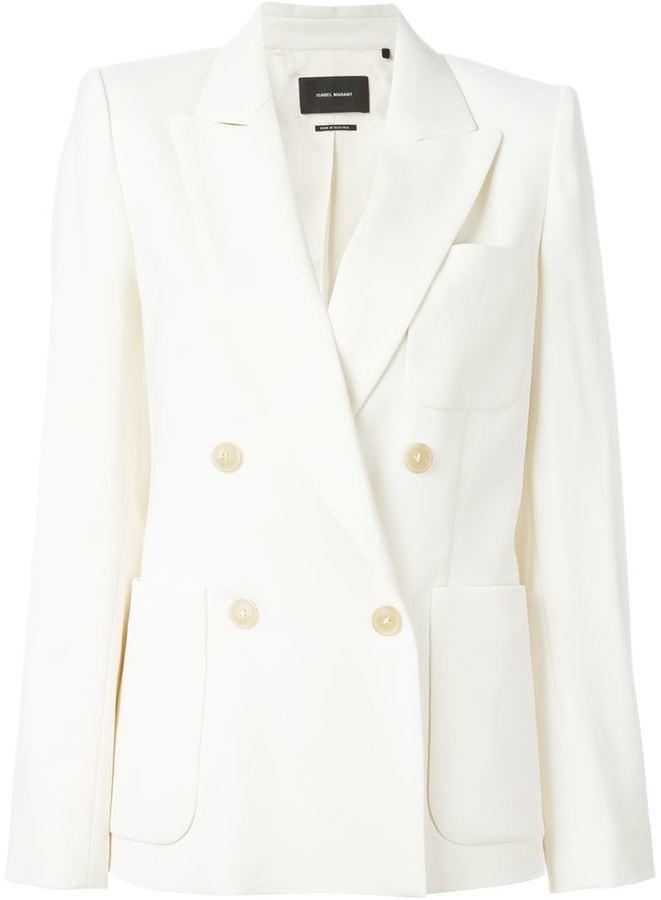 Blazer en laine blanc Isabel Marant