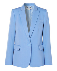 Blazer en laine bleu clair Stella McCartney