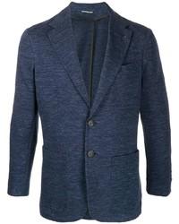 Blazer en laine bleu marine Canali