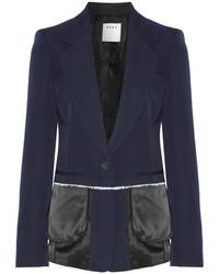 Blazer en laine bleu marine DKNY