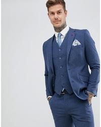 Blazer en laine bleu marine Gianni Feraud