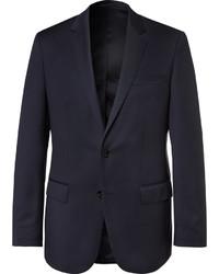 Blazer en laine bleu marine Hugo Boss