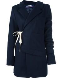 Blazer en laine bleu marine Jacquemus
