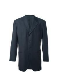 Blazer en laine bleu marine Romeo Gigli Vintage