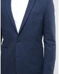 Blazer en laine bleu marine Asos