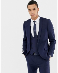Blazer en laine bleu marine Twisted Tailor