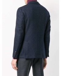 Blazer en laine bleu marine Lardini