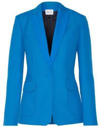 Blazer en laine bleu Pallas