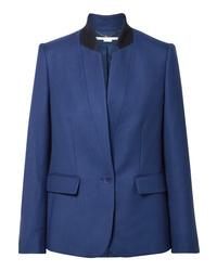 Blazer en laine bleu Stella McCartney