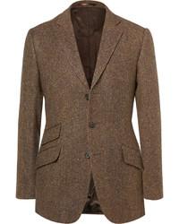 Blazer en laine brun foncé