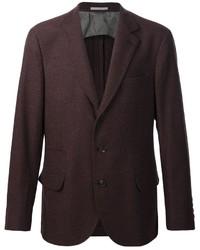 Blazer en laine brun foncé Brunello Cucinelli
