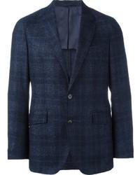 Blazer en laine écossais bleu marine Hackett