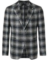 Blazer en laine écossais gris foncé Tagliatore
