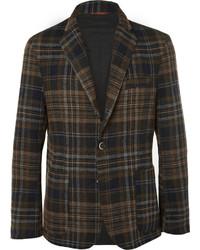 Blazer en laine écossais marron Barena