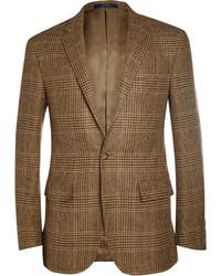 Blazer en laine écossais marron Polo Ralph Lauren