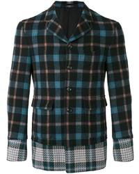 Blazer en laine écossais noir Comme Des Garçons Pre-Owned