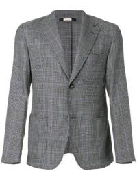 Blazer en laine en pied-de-poule gris Massimo Alba
