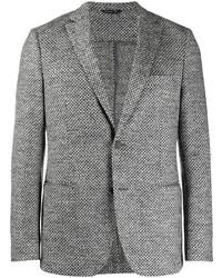 Blazer en laine en pied-de-poule gris Tonello