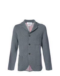 Blazer en laine en tricot gris