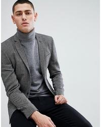 Blazer en laine gris foncé ASOS DESIGN