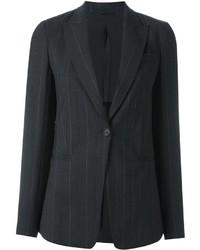 Blazer en laine gris foncé Brunello Cucinelli