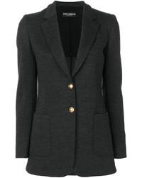 Blazer en laine gris foncé Dolce & Gabbana