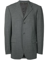 Blazer en laine gris foncé Dolce & Gabbana Pre-Owned