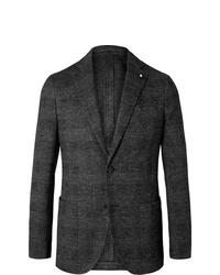 Blazer en laine gris foncé Lardini
