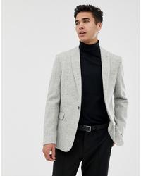 Blazer en laine gris ASOS DESIGN