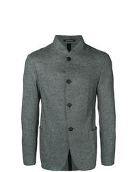 Blazer en laine gris Emporio Armani