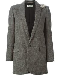 Blazer en laine gris Saint Laurent