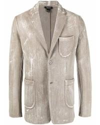 Blazer en laine imprimé beige Avant Toi