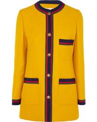 Blazer en laine jaune Gucci