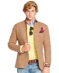 Blazer en laine marron clair