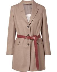 Blazer en laine marron clair Giuliva Heritage Collection