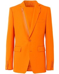 Blazer en laine orange Burberry