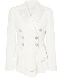 Blazer en laine orné blanc Alessandra Rich