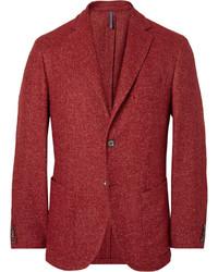 Blazer en laine rouge