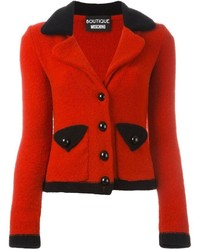Blazer en laine rouge Moschino