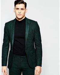 Blazer en laine vert foncé Asos
