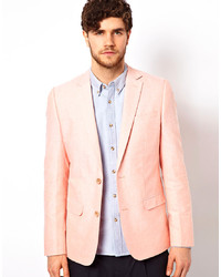 Blazer en lin rose Minimum