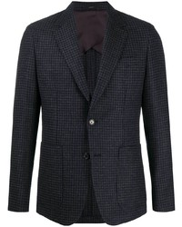 Blazer en pied-de-poule bleu marine Paul Smith