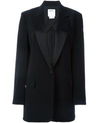 Blazer en satin noir DKNY