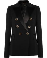 Blazer en satin orné noir Versace