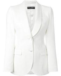 Blazer en soie blanc Dolce & Gabbana